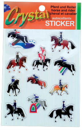Crystal stickers horse + rider designs